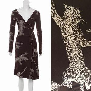 🐾 Diane Von Furstenberg 'Jane' Cheetah Wrap Dress